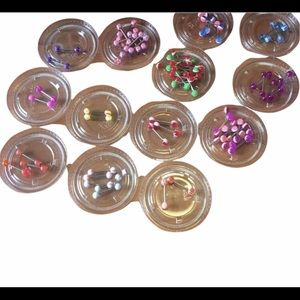 14g Tongue Ring Barbell Body Piercing jewelry 10pc